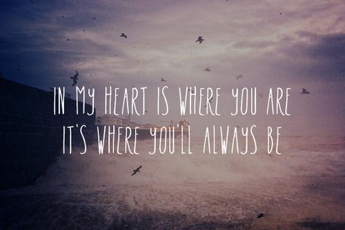"Forever Kind Of Love Quotes: ""In My Heart Is Where You Are. It's Where You'll Always Be"