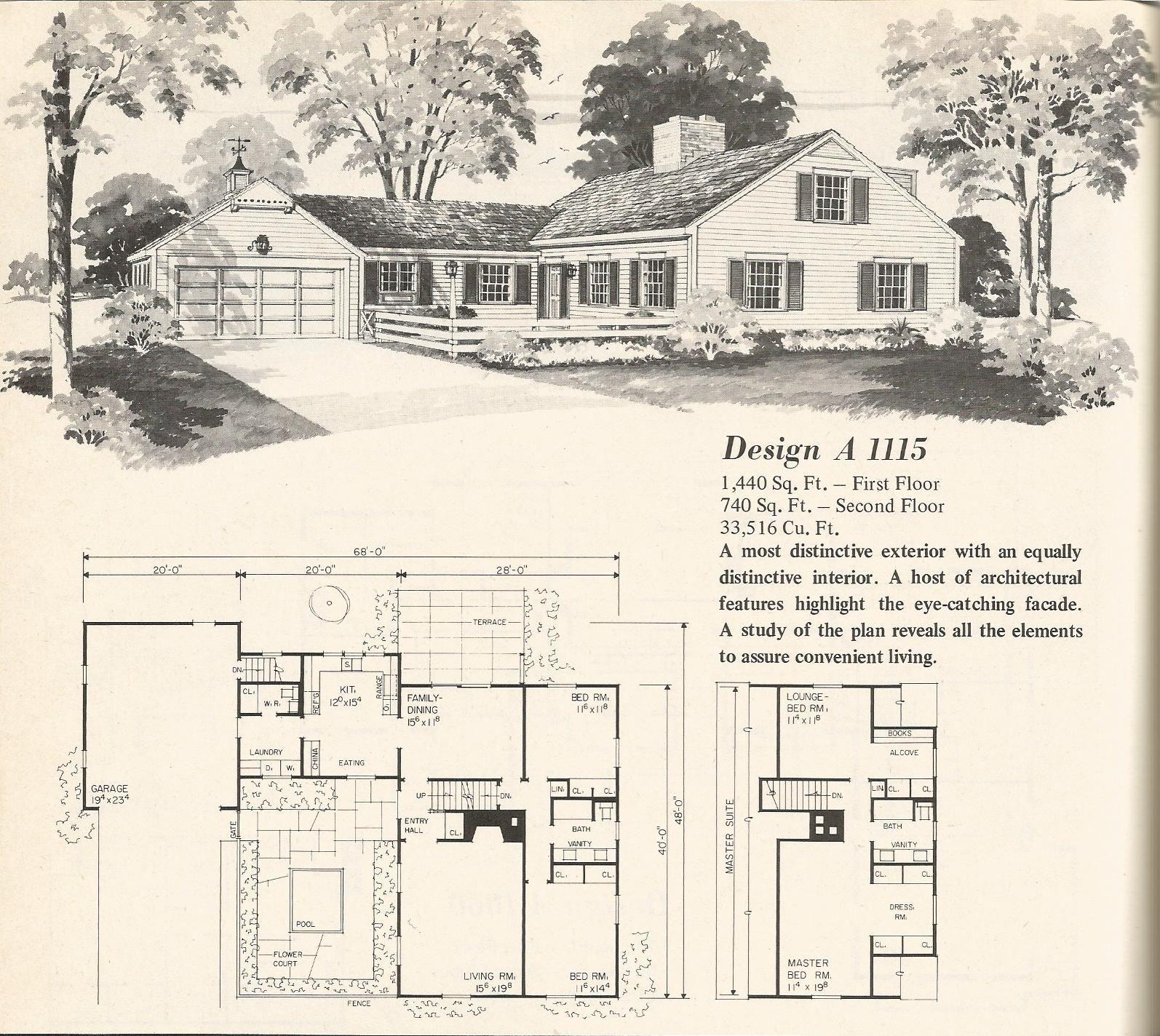 Vintage Home Plans Country Estates 1115 Vintage House Plans Vintage House House Plans