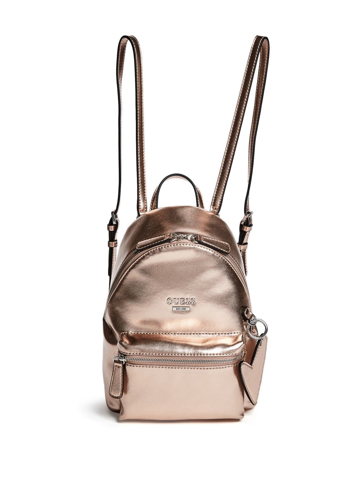 b3b85136ce GUESS Factory Womens Zayn Rose Gold Backpack