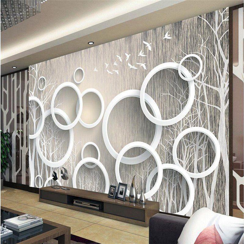 Beibehang Papel De Parede Individuelle Fototapeten 3d Wandbild Tapete Aufkleber Kunst Abstrakte Wald 3d Wanddekor Schlafzimmer Wandbild Wand Tapeten Wandbilder
