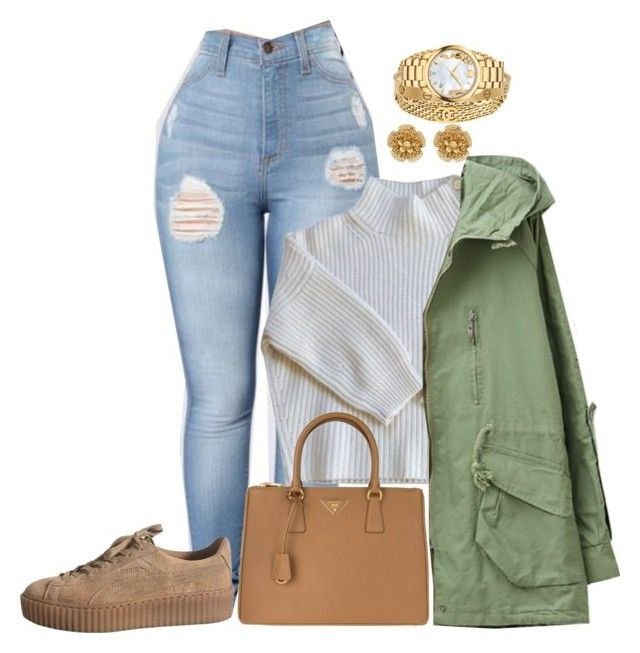 """panera date with my love"" by shania-14 ❤ liked on Polyvore featuring Vanessa Bruno, Prada, Chanel, Cartier, Movado and Miriam Haskell"