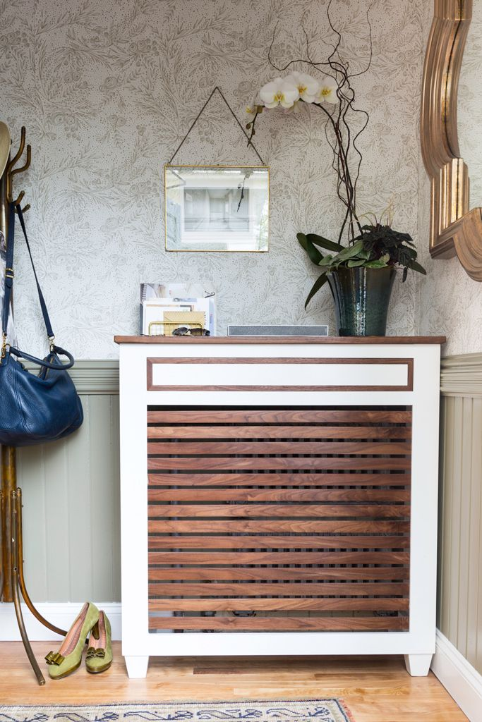 mid century style radiator cover with a drawer heater cover rh pinterest com