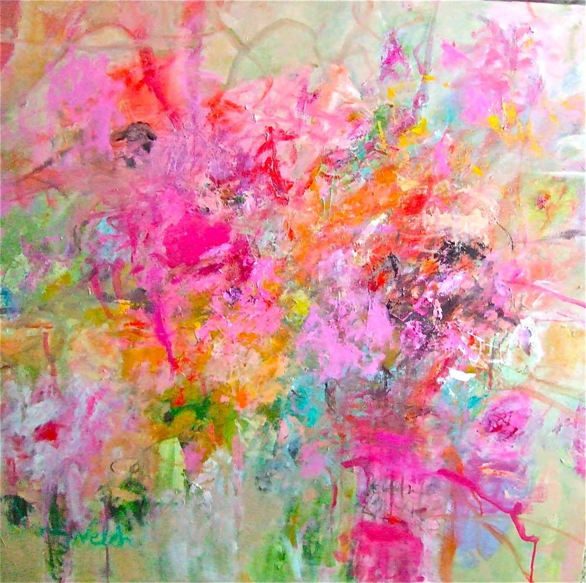 On the BRIGHT SIDE | ZsaZsa Bellagio - Like No Other painting by sandy welch