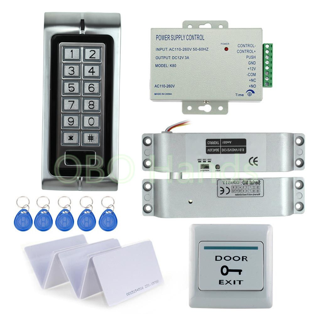 Electronic Key Lock Drop Bolt Lock System Rfid Electronic Door Lock Kit Set For Access Control Electric Lock Access Control Access Control System Control Key