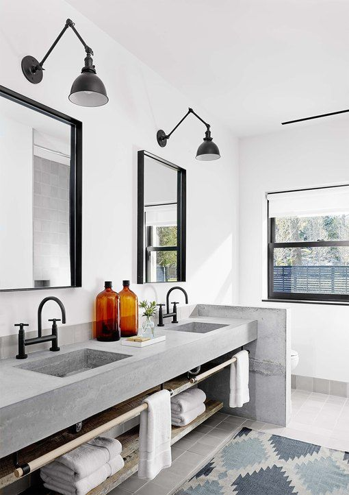 Photo of 13 Concrete Bathroom Countertop Ideas to Add Industrial Flair | Hunker