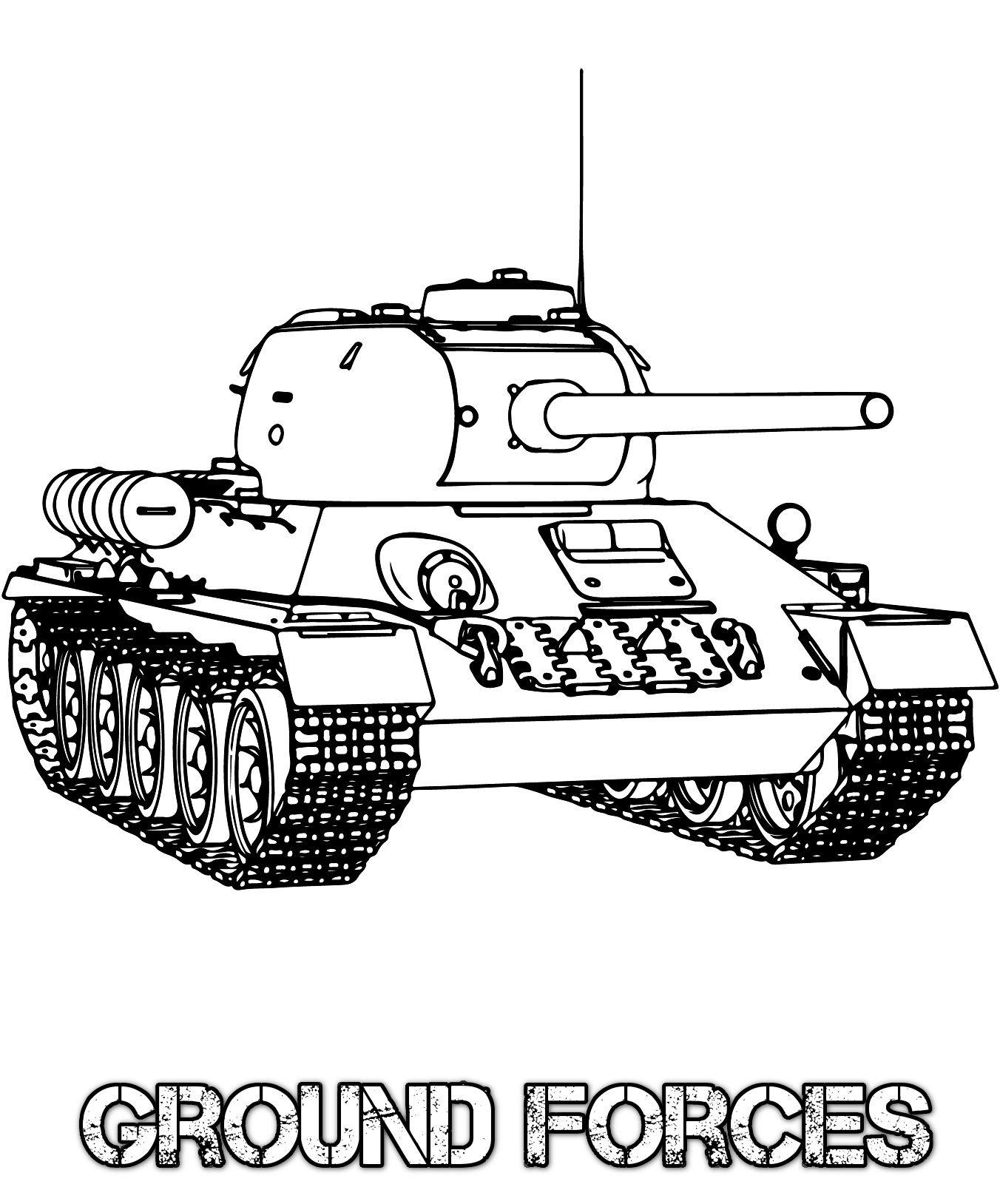 Tanks Coloring Pages : tanks, coloring, pages, Military, Coloring, Pages, Books,, Pages,, Tanks