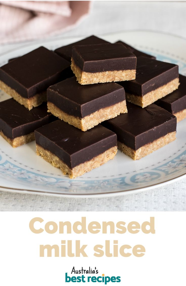 Condensed Milk Biscuit Slice Recipe In 2020 Milk Recipes Dessert Condensed Milk Recipes Desserts Milk Recipes