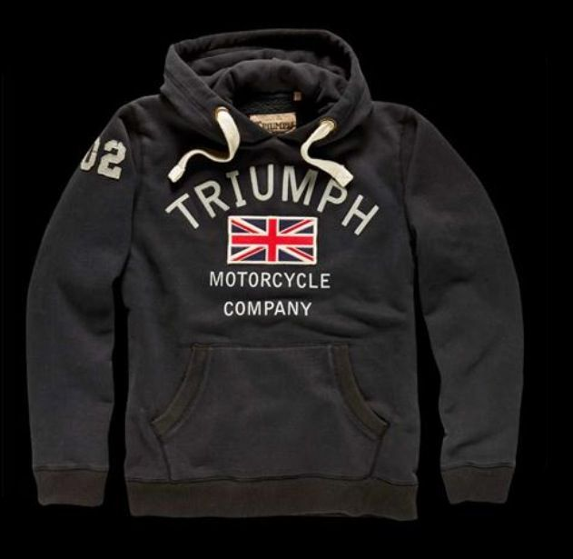 Hoodie Thicken fleece Sweatshirts TRIUMPH MOTORCYCLE Warm Winter Jacke Navy Grey