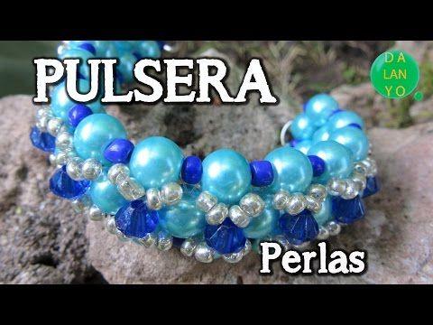 9b68a95fbb58 Pulsera de perlas y cristales - Bisutería fina (Tutorial paso a paso) -  YouTube