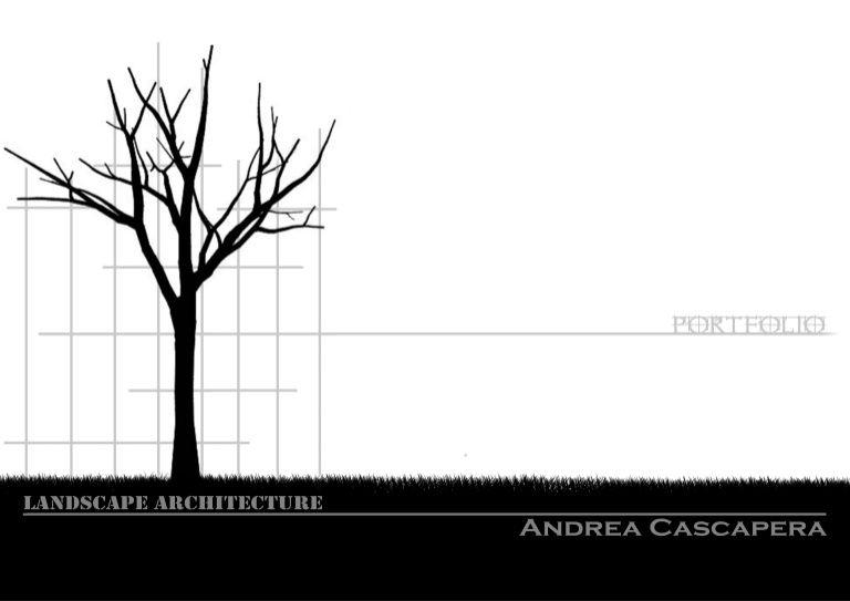 Title Slide of Portfolio Landscape Architecture Portfolio - landscape architect resume