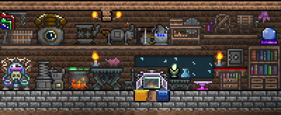 Crafting Station Cropped Png Terraria House Ideas Terrarium Craft Station