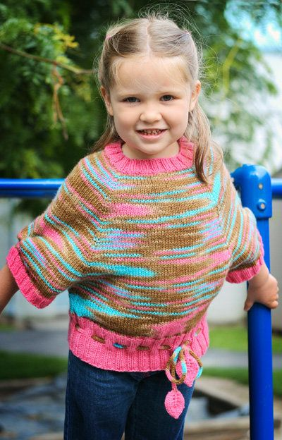 Free Knitting Pattern Toddler Childrens Clothes Paint Me A