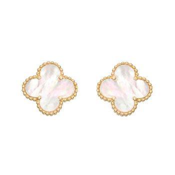 Van Cleef Arpels 18k Gold Mother Of Pearl Vintage Alhambra Earclips Betteridge