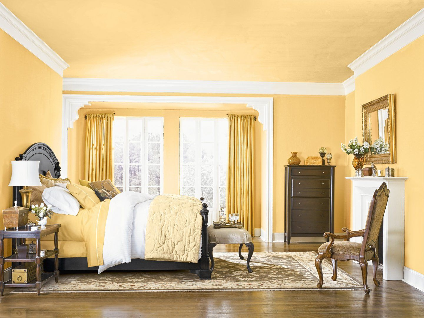 Reinvent a Room by Painting the Ceiling With Color | White trim ...