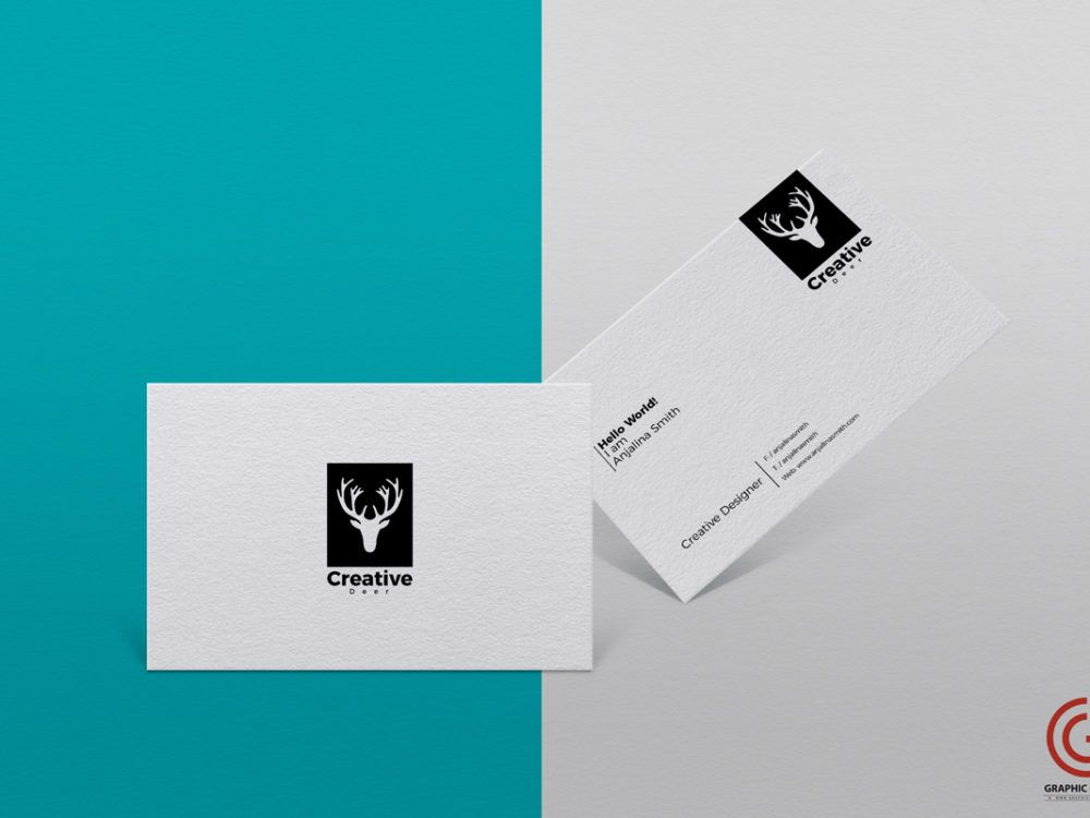Take a look at this Textured Business Card Mockup PSD Template! With ...
