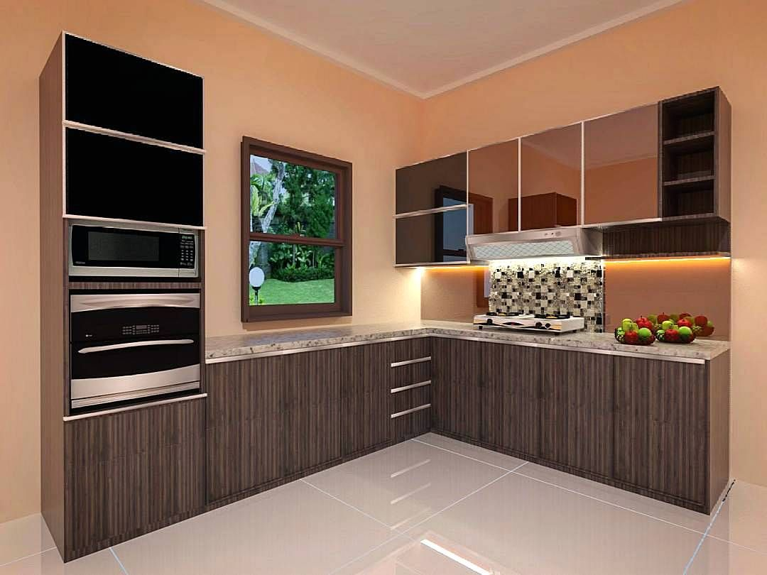 Design kitchen set interior kitchen set minimalis modern for Design minimalis modern