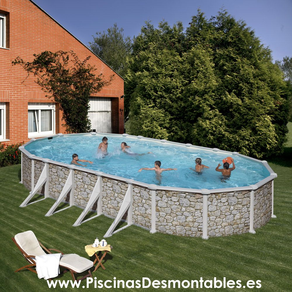 Las piscinas de imitaci n a piedra de gre llevan el dibujo - Piedras para piscinas ...