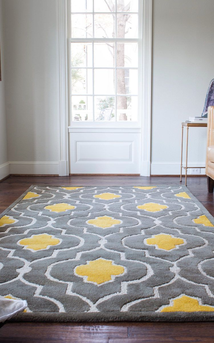 Gorgeous Floor Rug Yellow Gray Rug Wayfair Omg Can I Please Have