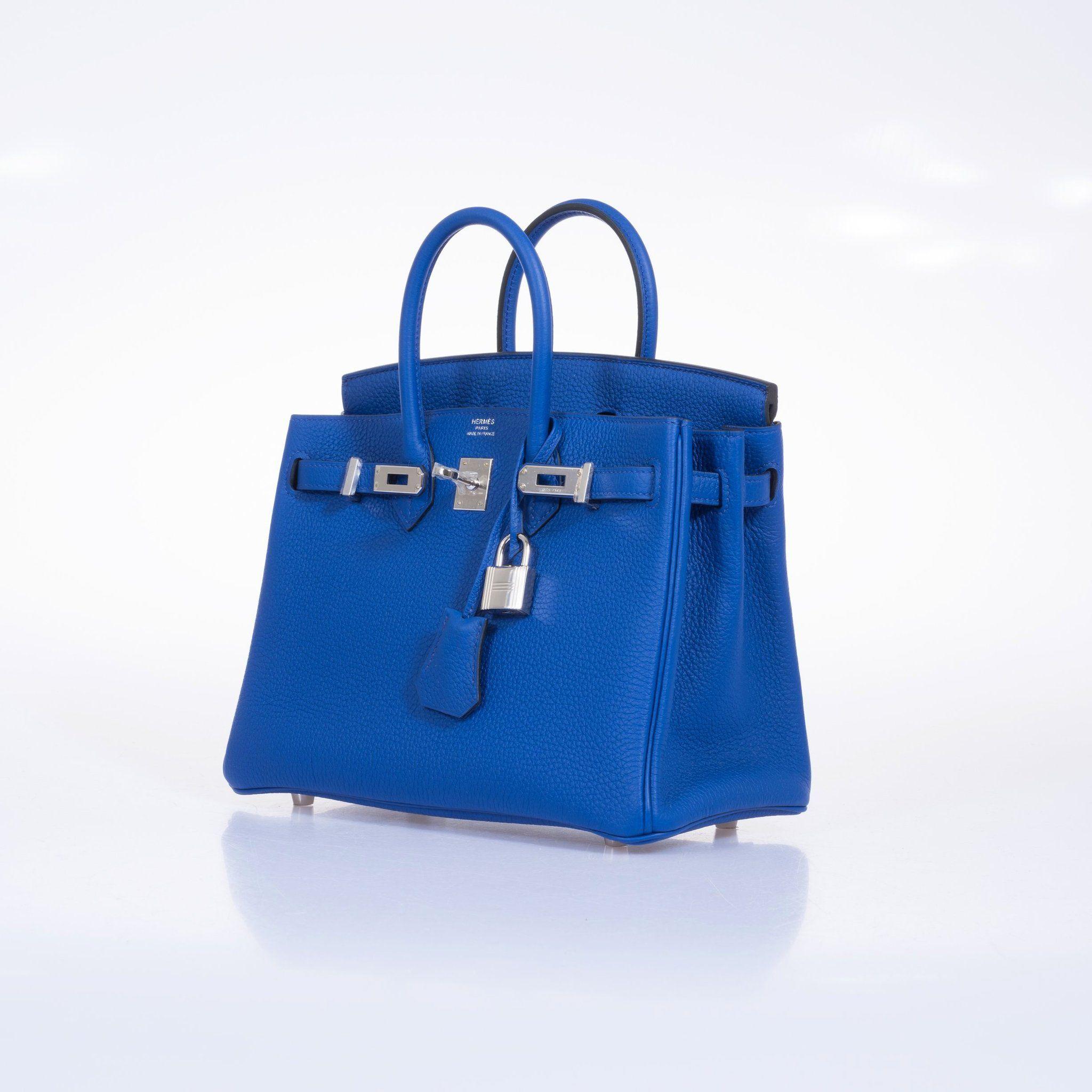 8069d87cde8 Hermes Birkin 25 Blue Electric Togo Palladium Hardware – JaneFinds