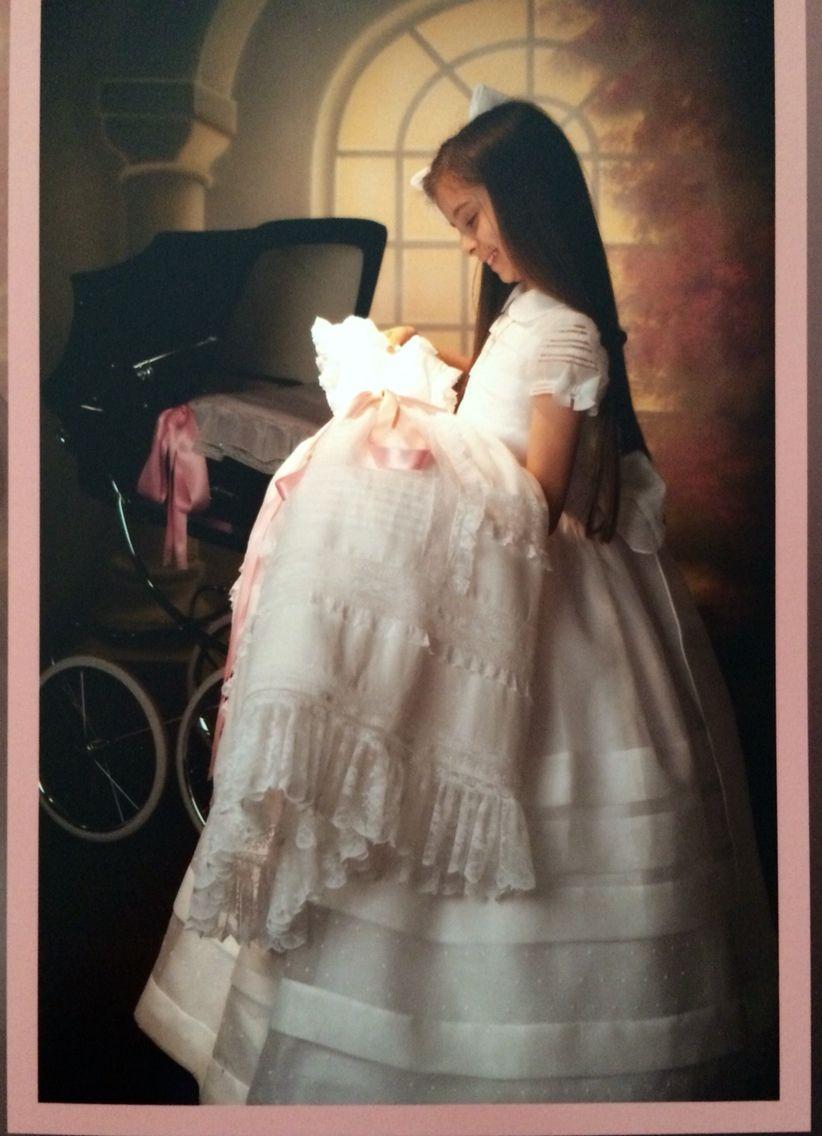 """❤️Cochecito de paseo y faldón de bautizo de mi princesa Carlota * """"Bautizo y comunión, recuerdos adorables, paso a paso en la vida"""" ILOVE YOU❤️ ~*020*~"""
