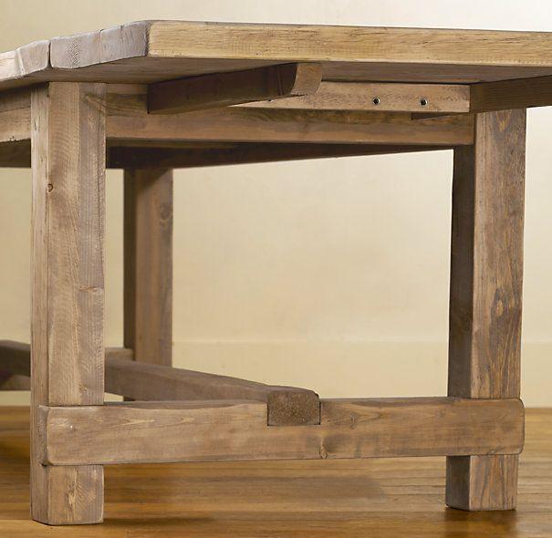 Restoration Hardware Farmhouse Salvaged Wood Rectangular Extension Tables 2395 2995 112 126