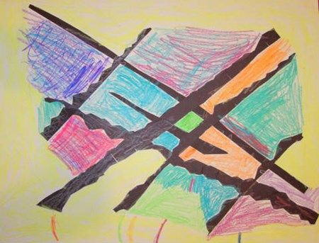 Different Types Of Lines In Art Drawing : As a part of their studies lines the first graders transformed