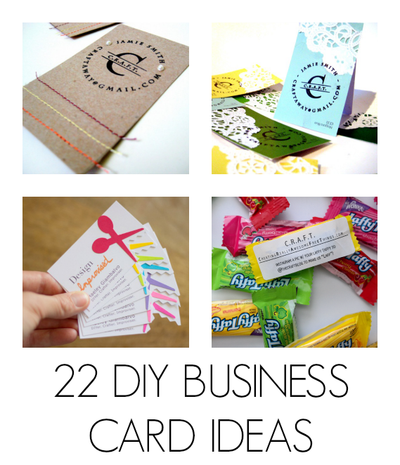 Diy business cards business cards card ideas and business tons of really awesome and easy diy business card ideas reheart Images