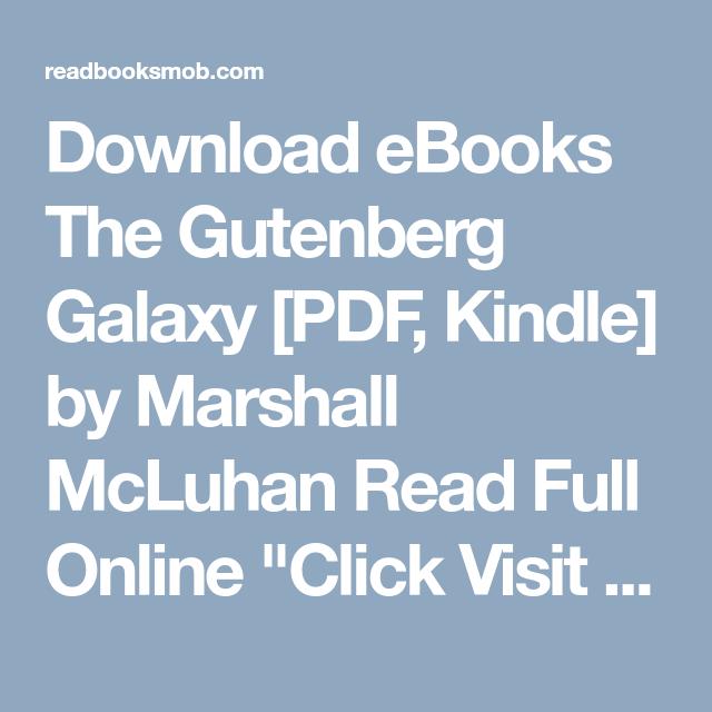 Gutenberg Galaxy Pdf