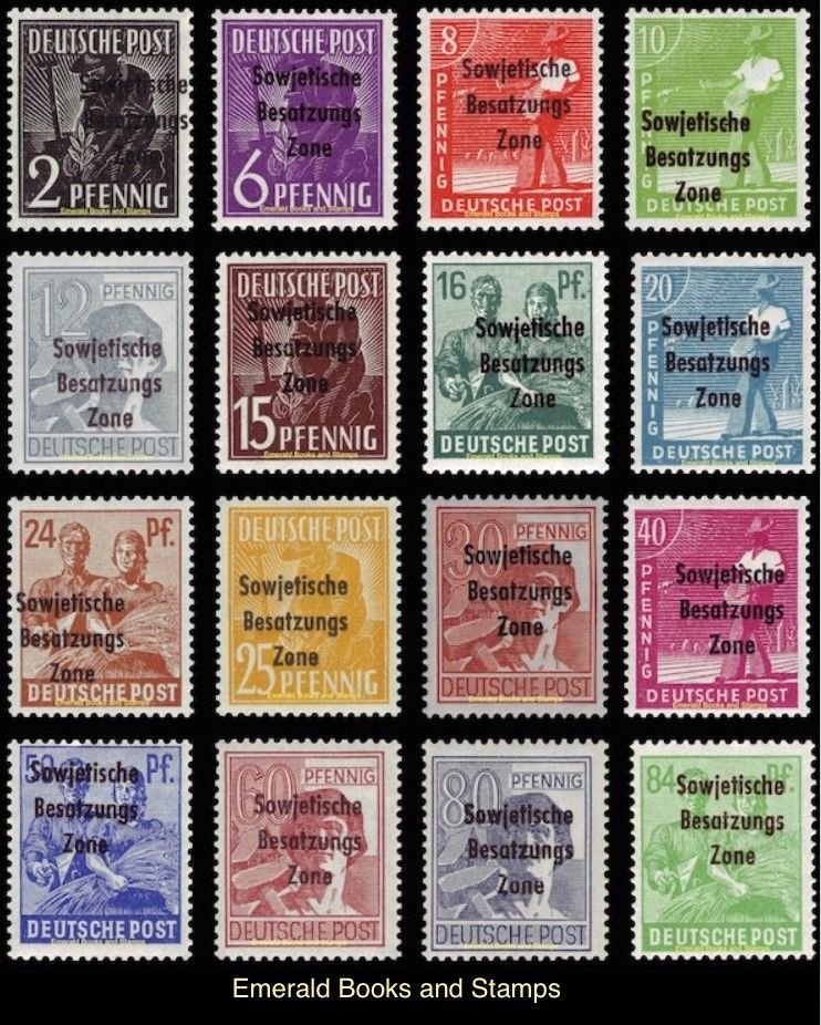 Details About Ebs Germany 1948 Soviet Occupation Workers Set Overprint Michel 182 197 Used H Stamp Collecting Stamp Postage Stamps
