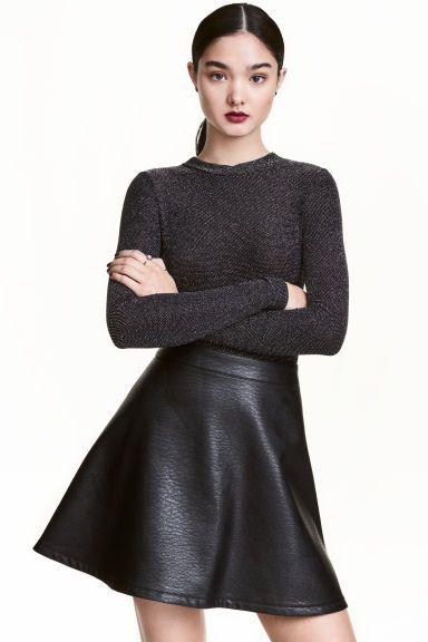 60% de descuento el más baratas varios colores Falda en piel sintética | hobbit | Ropa, Faldas de cuero ...