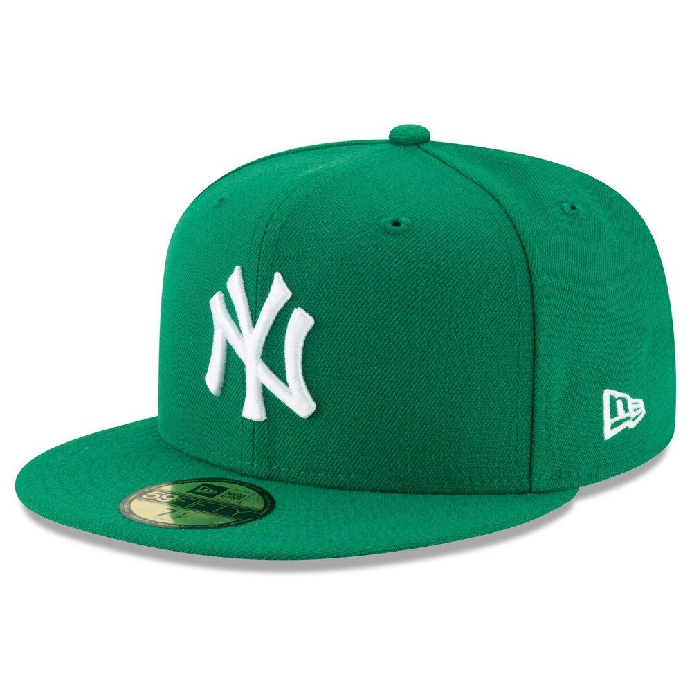 Men S New Era Green New York Yankees Fashion Color Basic 59fifty Fitted Hat In 2021 Fitted Hats Hats For Men New York Yankees
