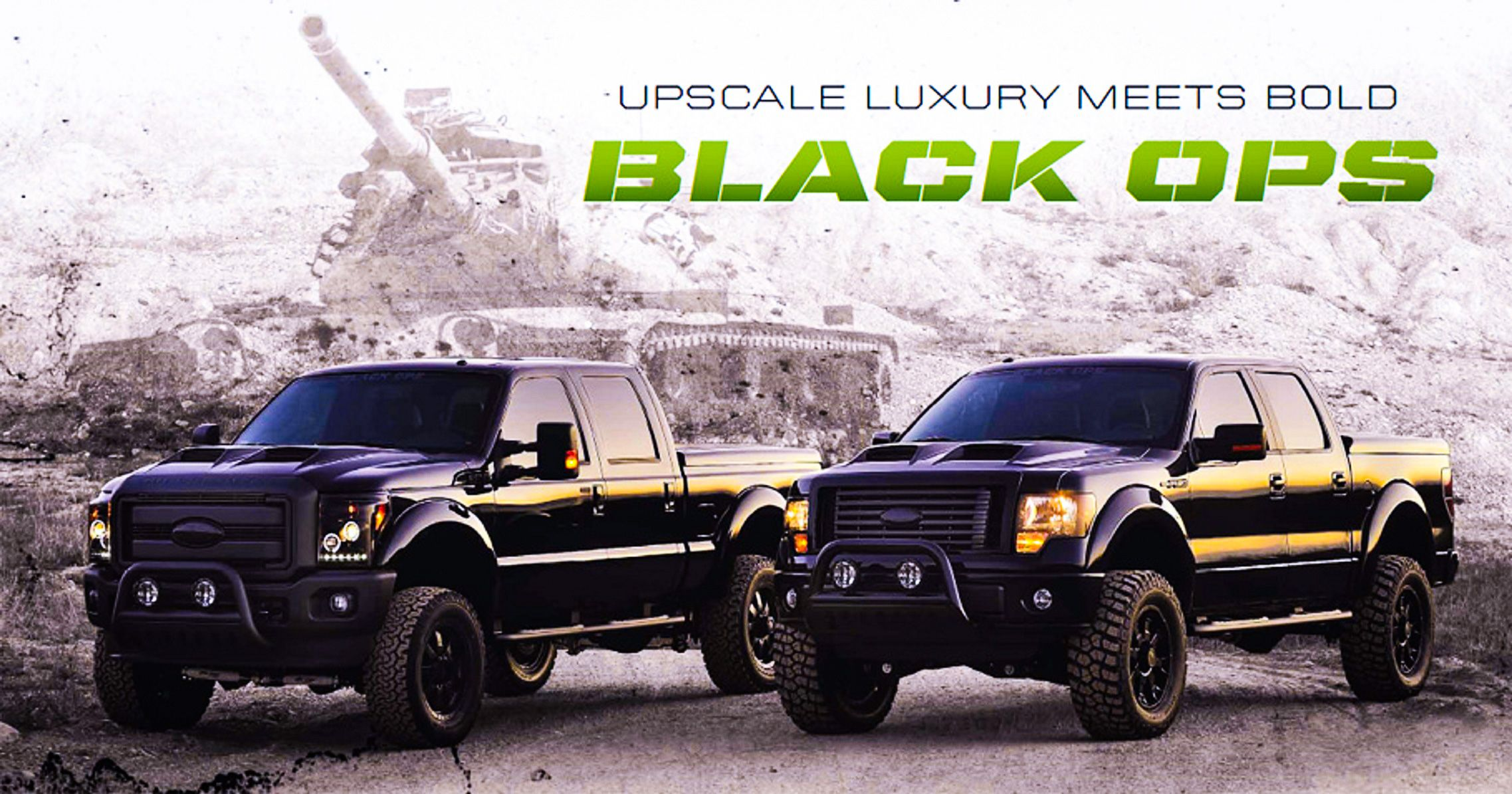 Ford f 150 and f 250 black ops edition http