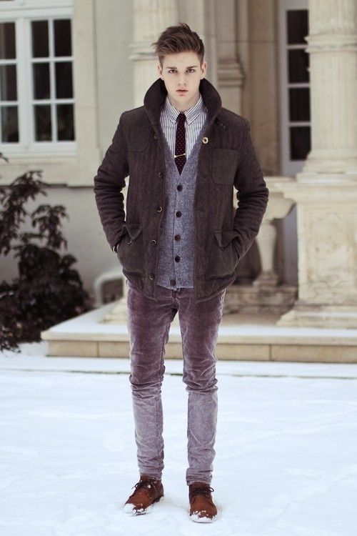 How to wear a peacoat with jeans