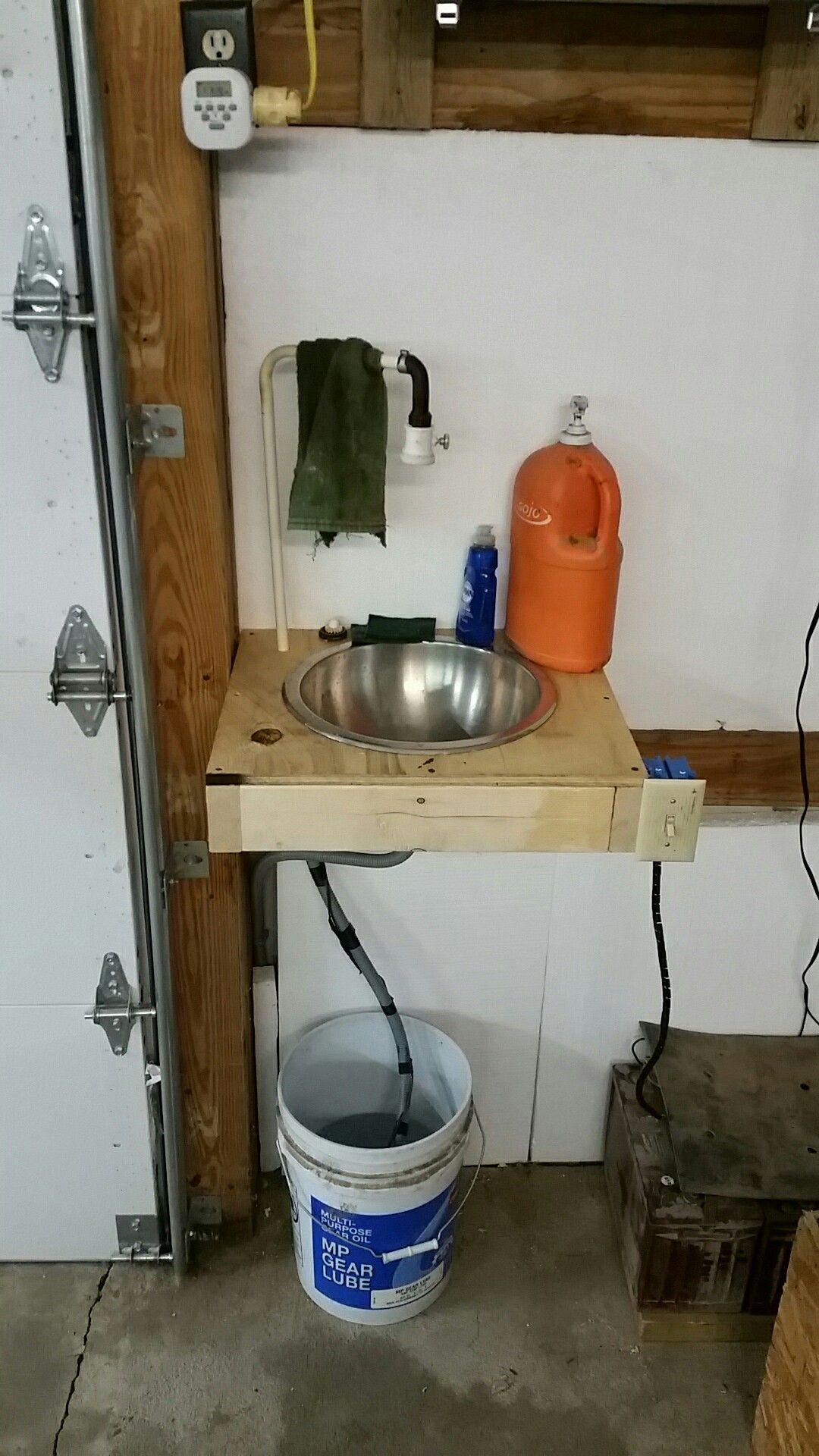 Sink For Shops Without Plumbing Home Workshop Garage Workshop Decor Design