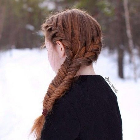 Two Plaits Hairstyle For School #hairstyles #haircuts #hair #schoolhair | Hair styles, Two ...