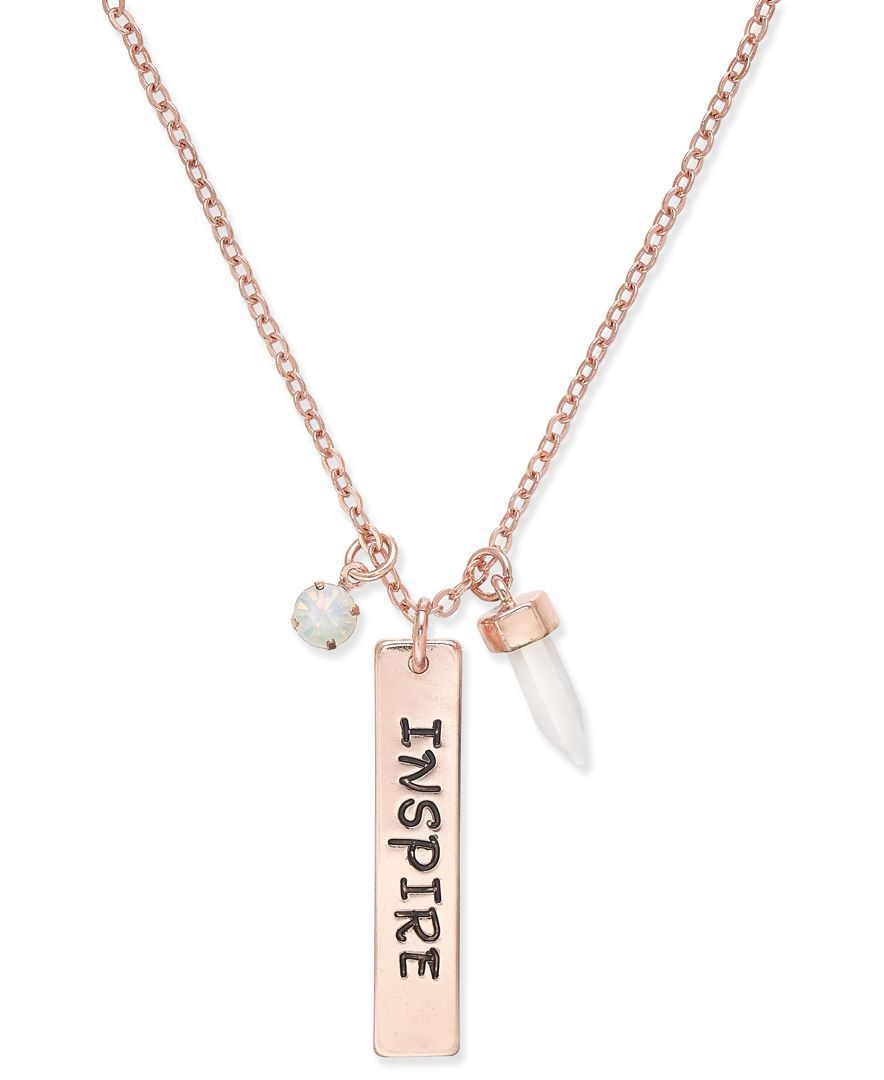 Inspired Life Message Charm Pendant Necklace