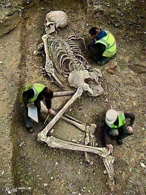gigantisch menselijk skelet gevonden in de bergen na aardbeving in, Skeleton
