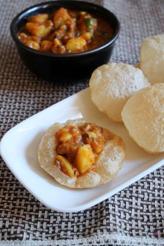 Aloo puri   Recipe   Puri recipes, Recipes and Potato curry