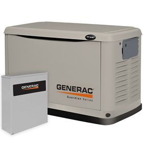 Generac Guardian 6438 A 11kw Standby Generator System 200a Service Disconnect Ac Shedding Standby Generators Generator House Whole House Generators