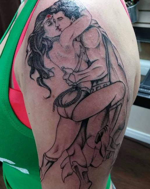 598724c7c newtattoo #superman #wonderwoman #love via candice_donovan   Tatoos ...
