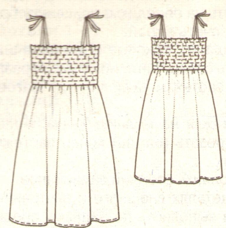 Эскиз сарафана для девочки