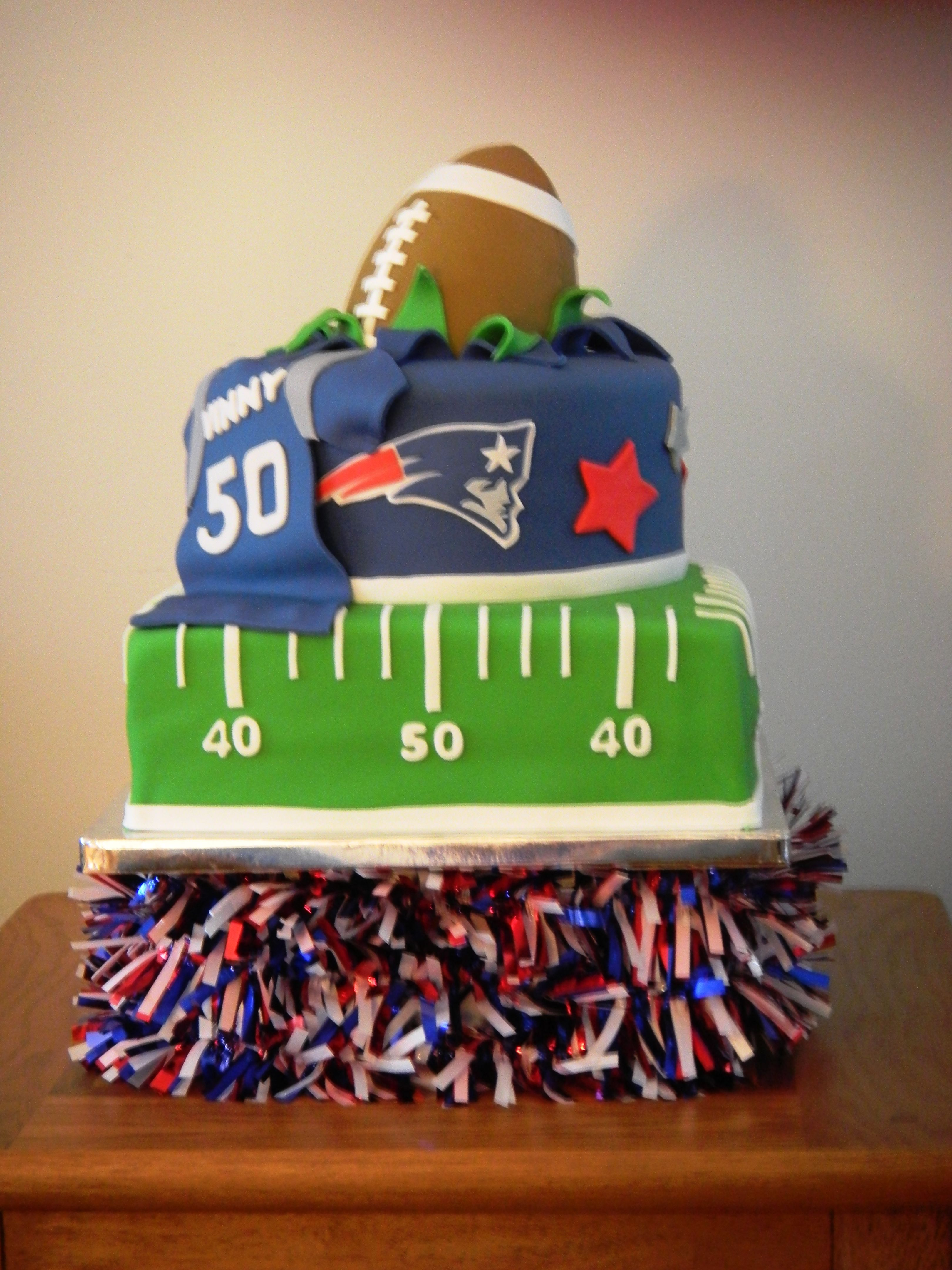 New England Patriots Football Nfl Patriotic Cake Football Birthday Party Sport Cakes