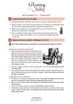 Romeo + Juliet (IGCSE): Act 4, Scenes 2-3 - Come Vial