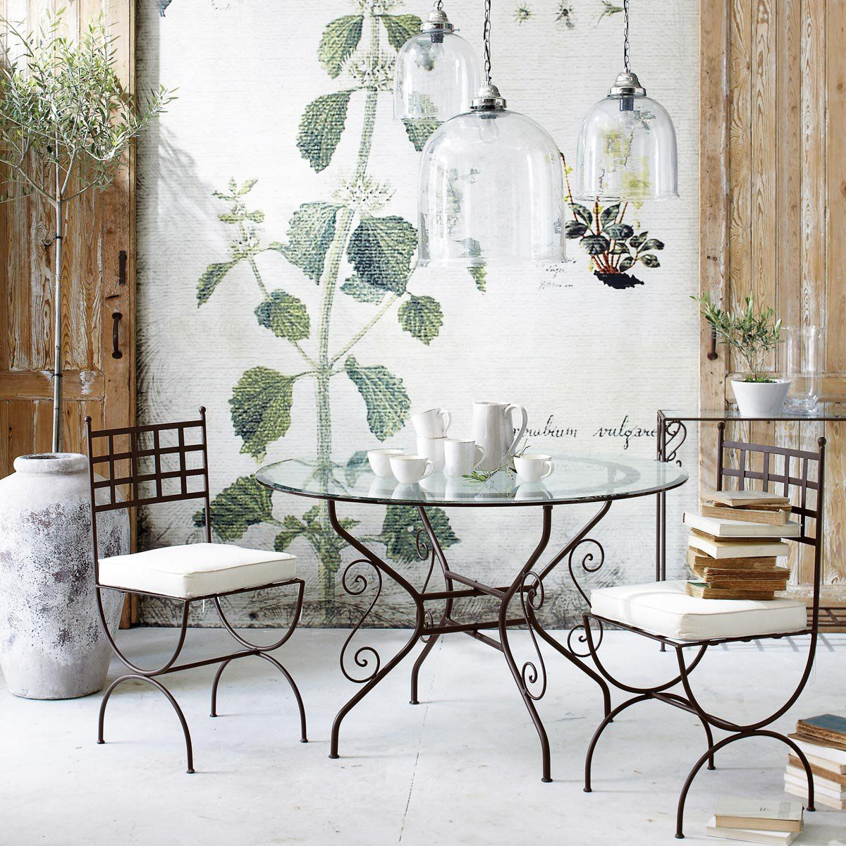 Suspensions Industriel In 2019 Wrought Iron Chairs