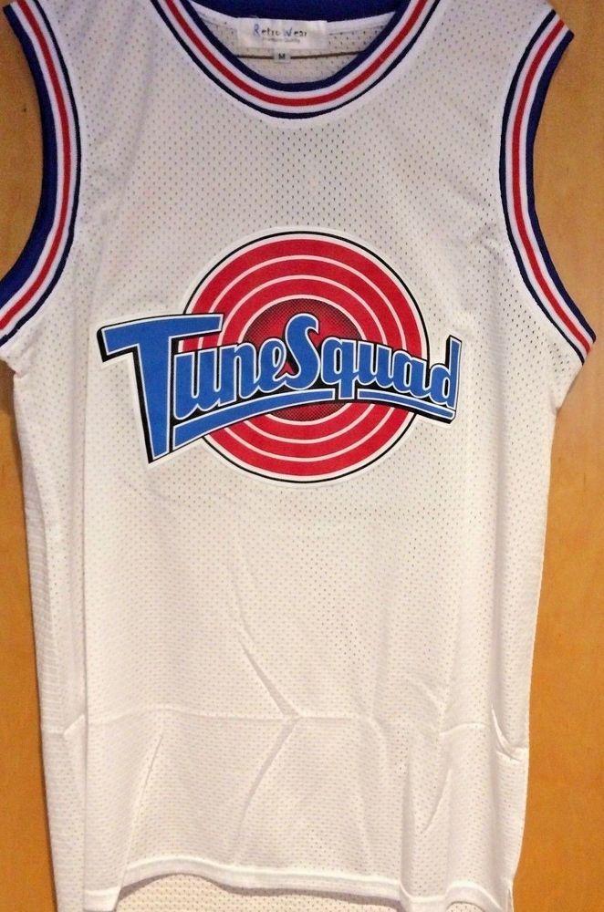 14f19a6d7abdd8 Michael Jordan  23 Space Jam Tune Squad Basketball Jersey White S M L XL  XXL