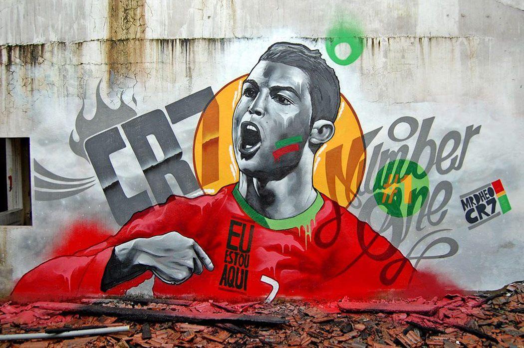 Cristiano Ronaldo By Mrdheo Sticktarget Street Art Graffiti From Portugal
