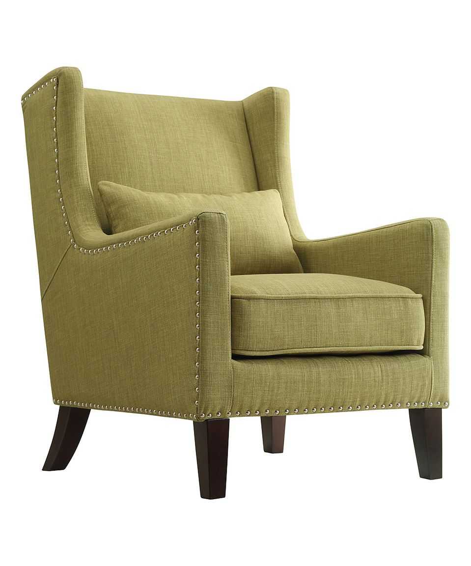Murray Wingback Arm Chair Chartreuse - Inspire Q, Green