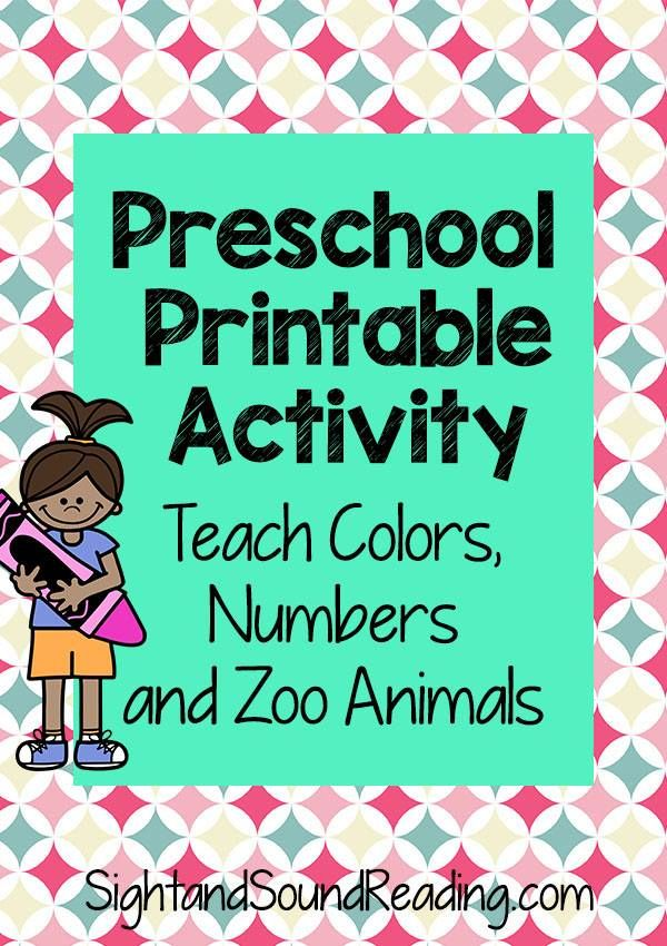 Color preschool activities free lesson plan and activity