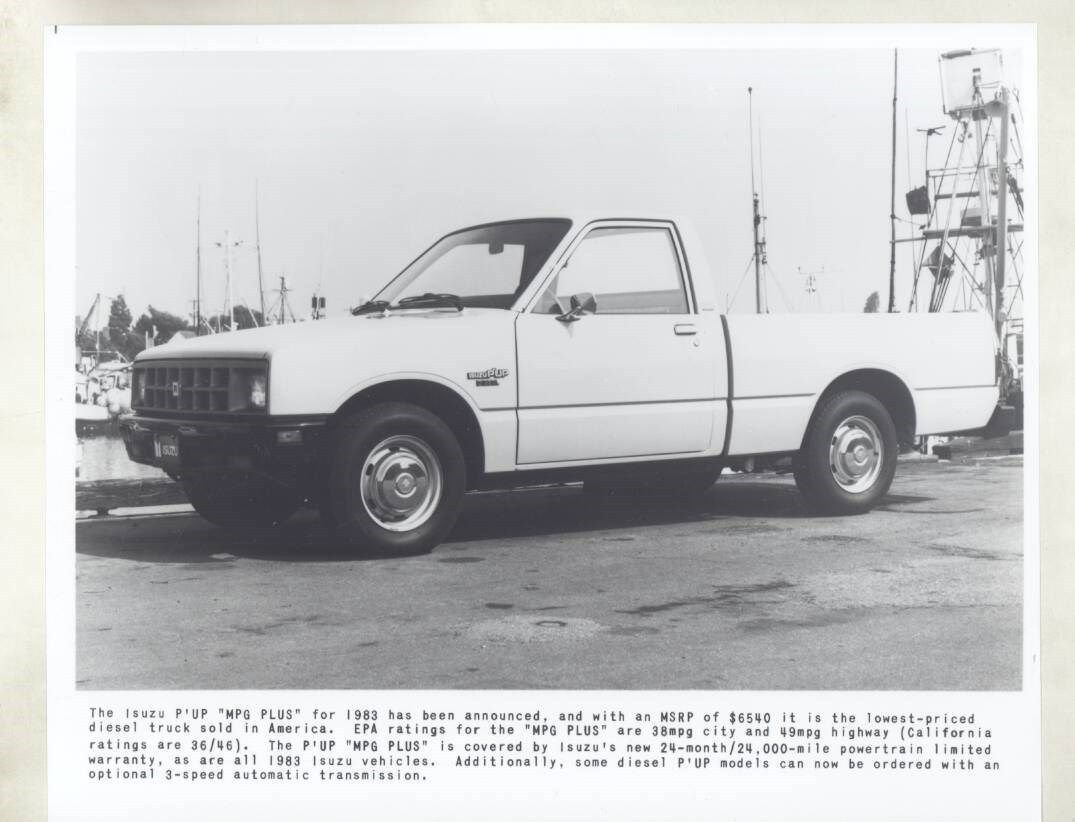 medium resolution of 1983 isuzu pup mpg plus diesel pickup truck photograph wy0720 ebay
