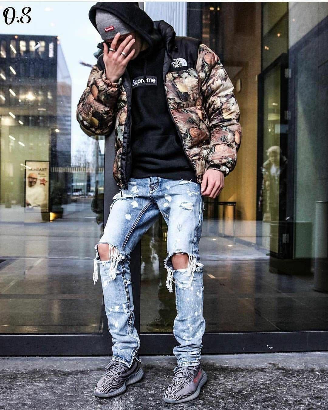 Streetwear Swag Winter Outfits Men